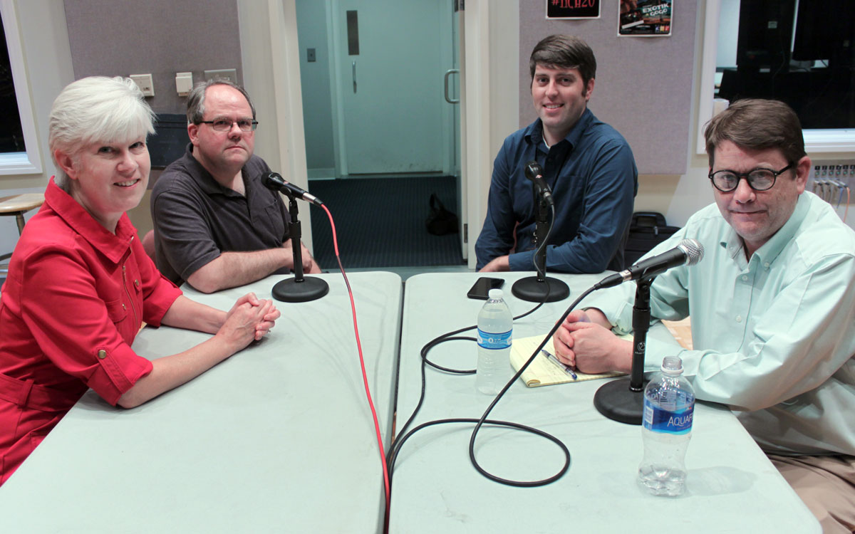 Kaye McIntyre, Michael Smith, Stephen Koranda, and Peter Hancock in the KPR Live Performance Studio