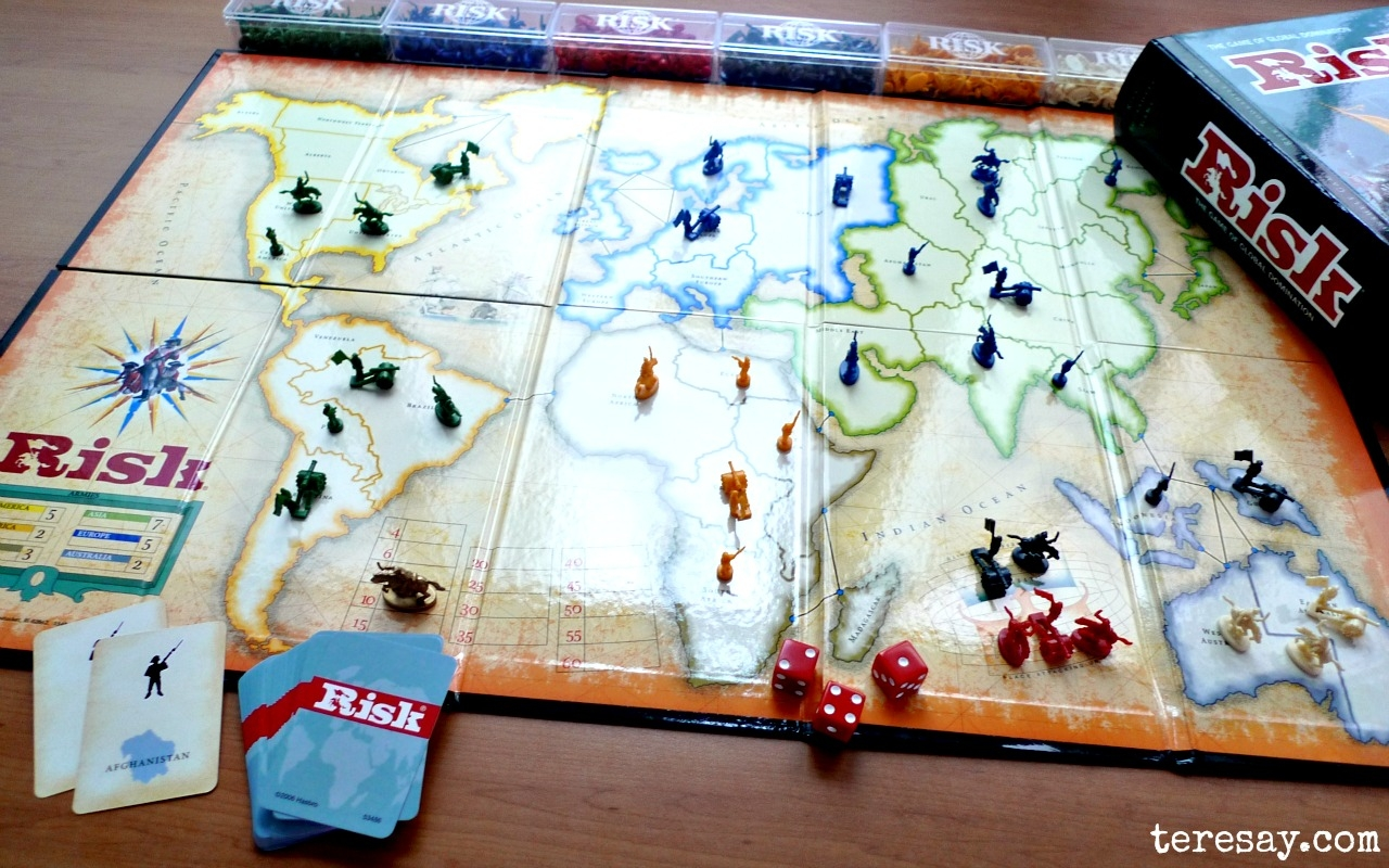One classic board game is RISK, the game of global domination, developed by the Milton Bradley Company (now owned by Hasbro).