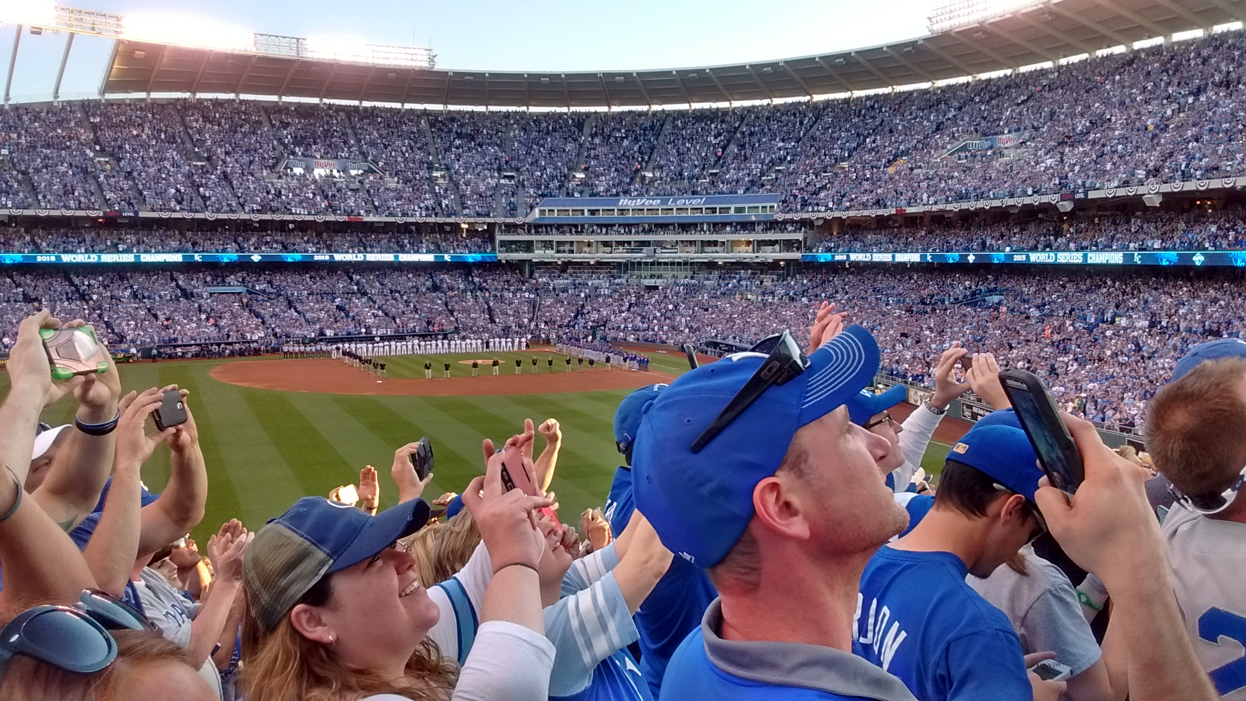 The Royals lost their home opener to the Oakland A's Monday.  This photo, by Greg Echlin, is from opening day in 2016.