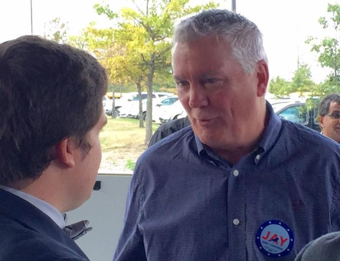 Democrat Jay Sidie lost his campaign against incumbent third district Congressman Kevin Yoder in 2016. (Photo: KCUR Radio)