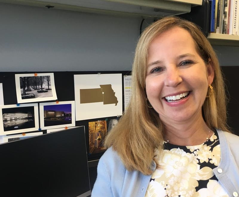Angela Andreson Smart, vice president of the Hall Family Foundation, has been working for years to end the Missouri-Kansas economic border war. (Photo by Frank Morris / KCUR Radio)