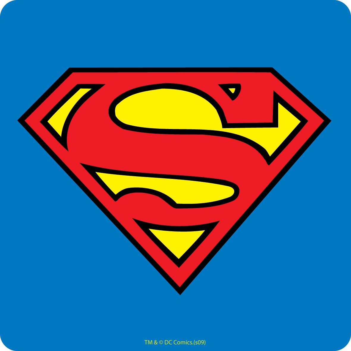 (Superman logo from DC Comics)