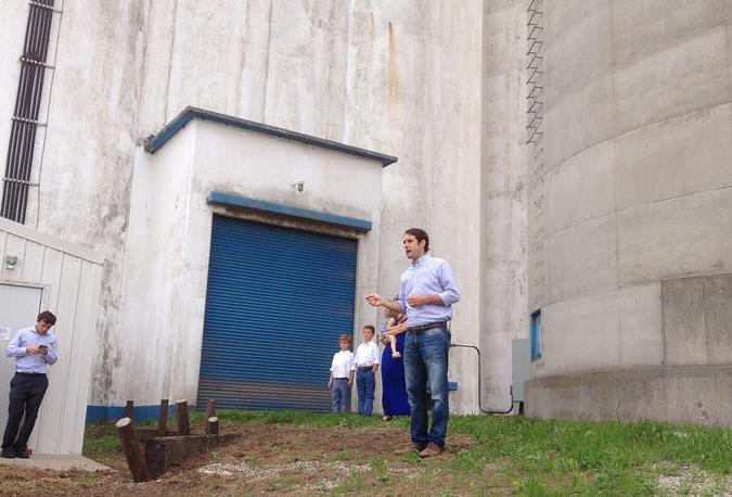 Svaty launched his candidacy Tuesday afternoon at a grain elevator near his hometown of Ellsworth. (Photo: Bryan Thompson)