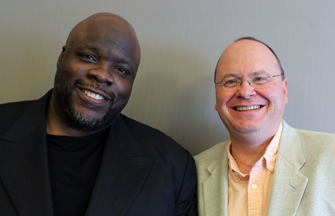 Tracy Hicks (left) and his friend, Tobias Schlingensipen, talk about their experiences with racism, education and ministering to a congregation. They talk about the repercussions of integration and their hopes for the future.
