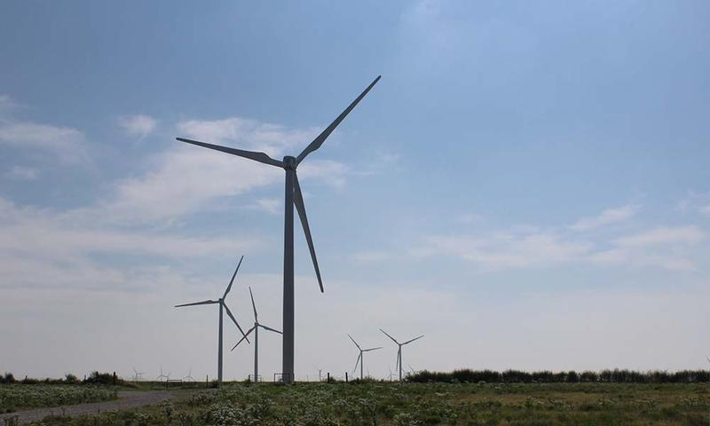 Kansas wind turbines (Photo by Sean Sandefur, KMUW-Wichita)