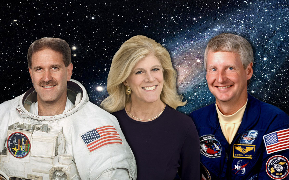 """Two Astronauts, One Stellar Night,"" with John Grunsfeld, Lynn Sherr and Steve Hawley."