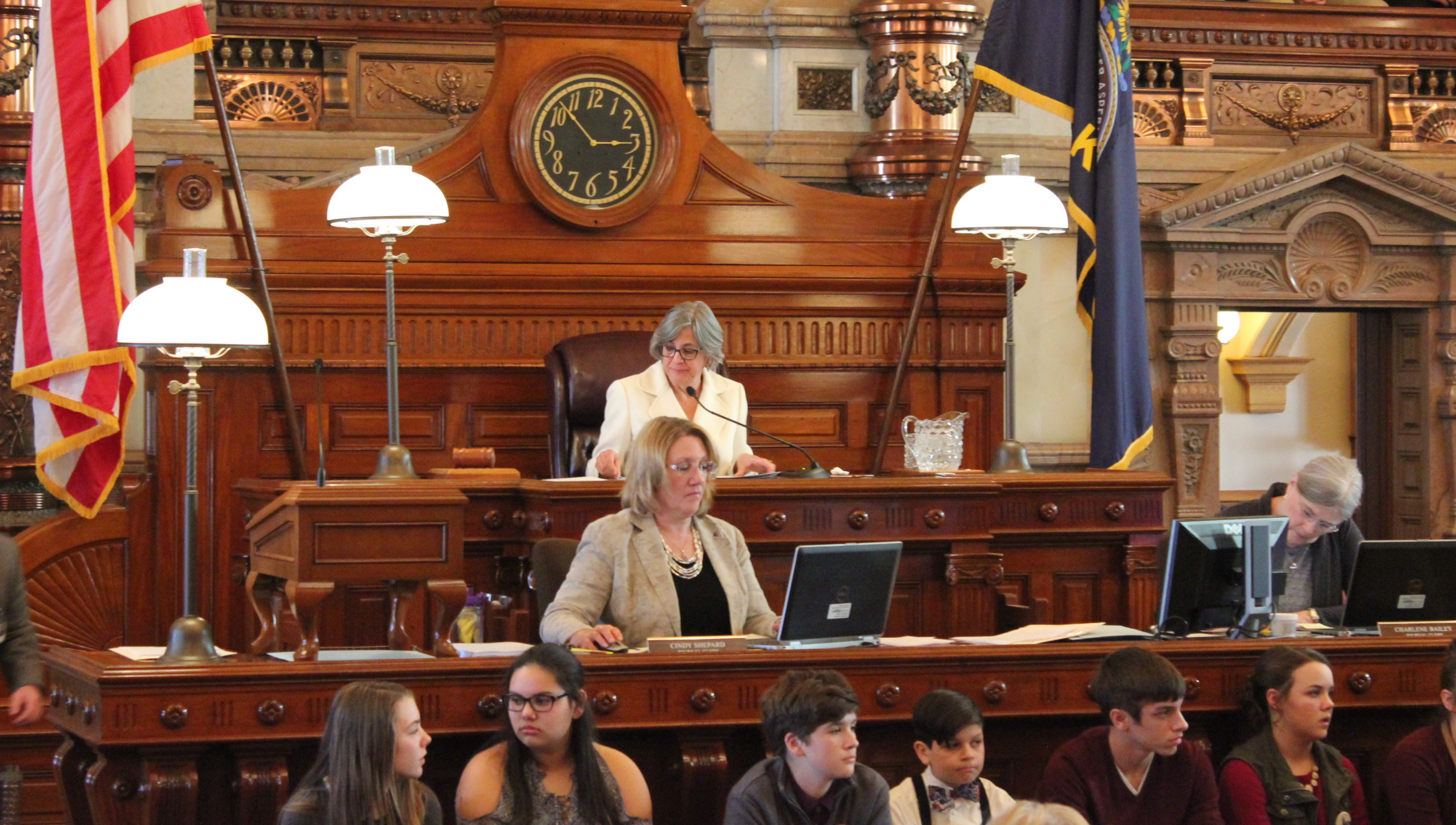 Senate President Susan Wagle presides over a debate earlier this year. (Photo by Stephen Koranda)