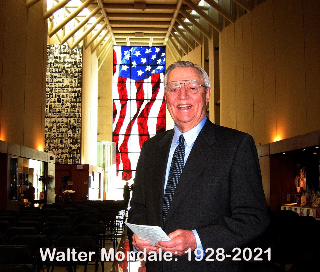 Photo of Walter Mondale at Dole Institute