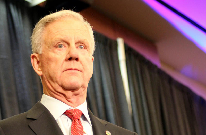 """Wichita businessman Willis """"Wink"""" Hartman is pulling out of the Republican race for governor in Kansas.  (Photo by Nadya Faulx / KMUW)"""