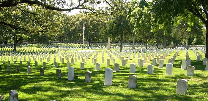 Fort Riley cemetery where the earliest recorded burial took place in 1854.