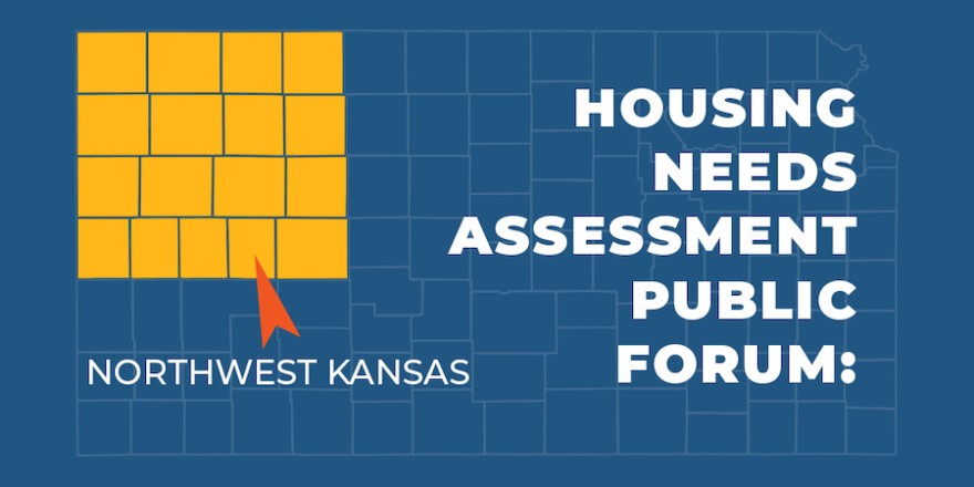 A graphic promoting the listening session in Colby that was part of the statewide housing needs assessment.