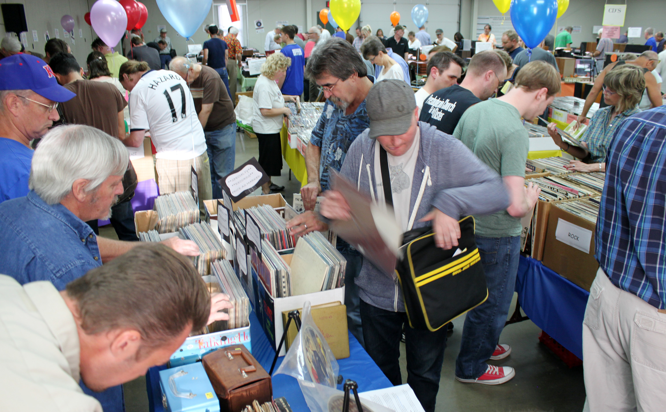 Opening night for the FYEO sale is usually packed with those looking for a deal on great vinyl records and audio equipment.