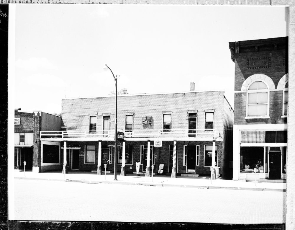Several views of the Hays House in Council Grove, Kansas, between 1920 and 1970. The structure was originally known as the Hays Tavern. Seth Hays, Daniel Boone's great-grandson, built the structure in 1857 to be used in trading goods and serving food for those traveling on the Santa Fe Trail. (Photo Courtesy of Kansas Historical Society / kansasmemory.org)