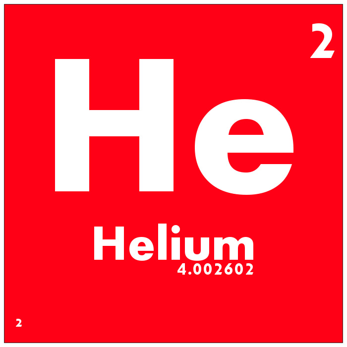 Helium, discovered in Kansas in 1903, is a colorless, odorless, tasteless and inert gas.  It has many uses.  Helium is used to inflate balloons because the gas is lighter than air, allowing balloons to float.