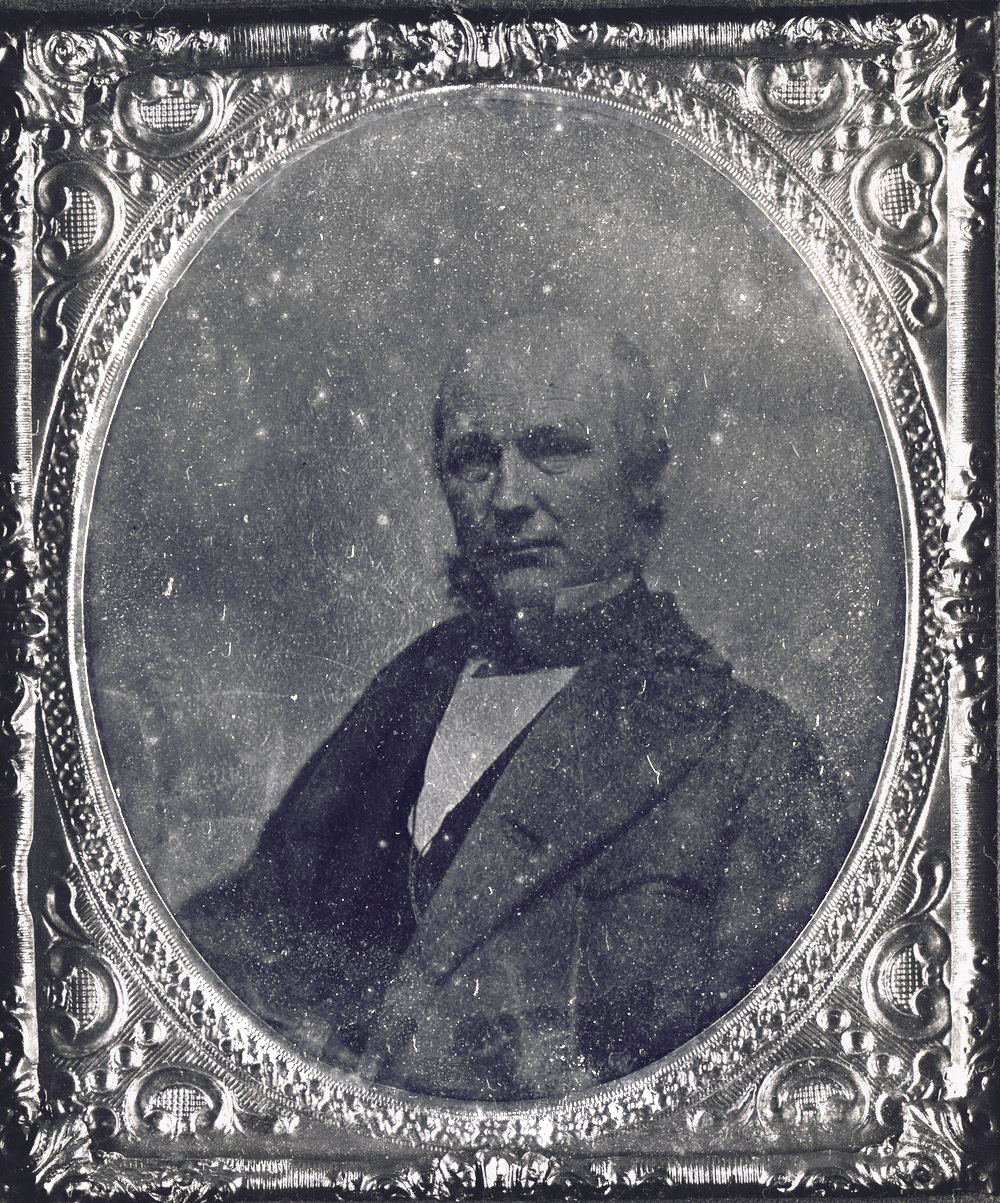 Horace Greeley was editor of the New York Tribune during the Kansas territorial era. He actively supported the free state cause in Kansas through editorials as well as coming to Kansas in 1859. Date: Between 1854 and 1859 (Photo Courtesy of Kansas Historical Society/kansasmemory.org)