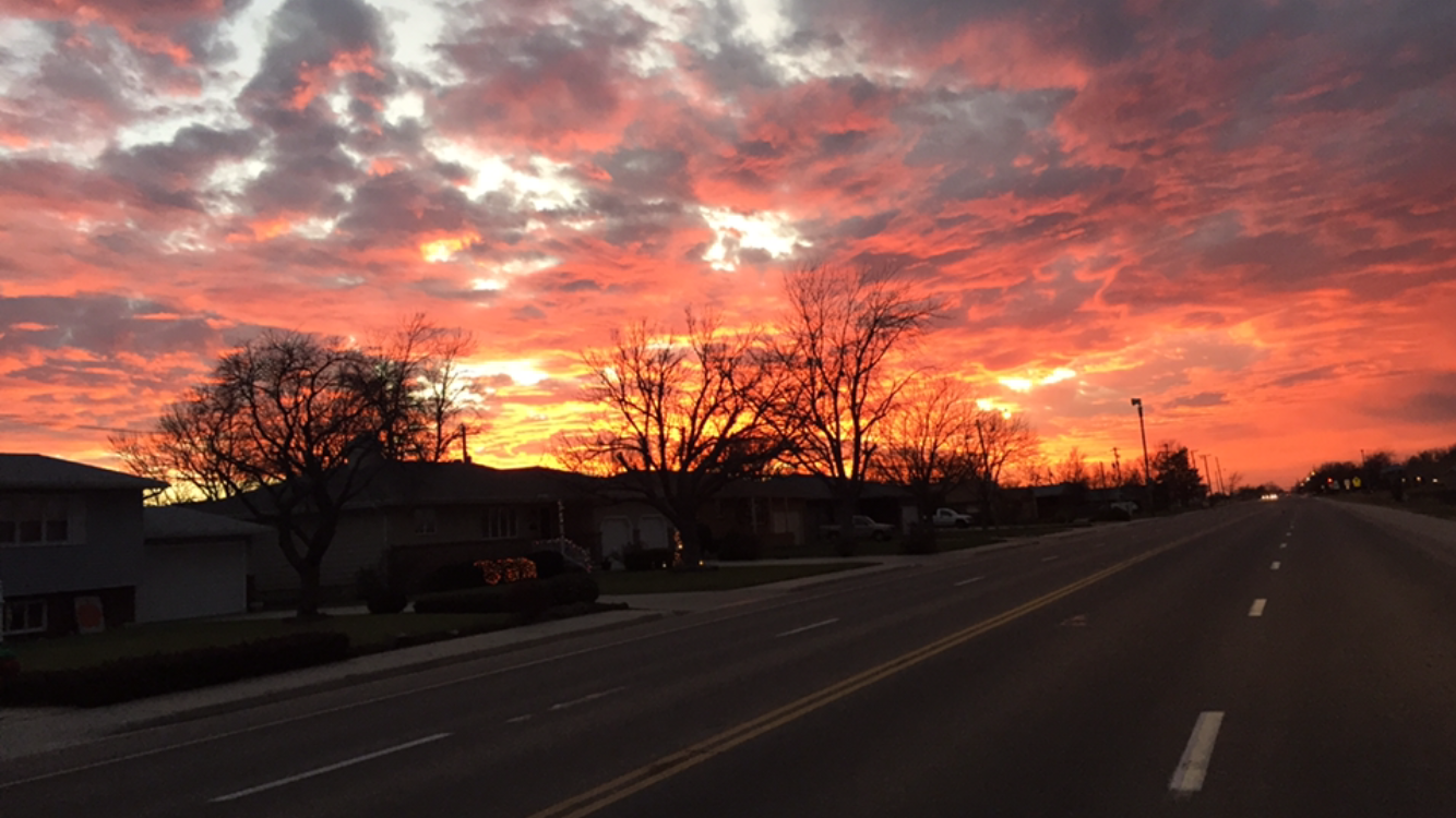 Positively 24th Street, looking west, in Great Bend, Kansas.