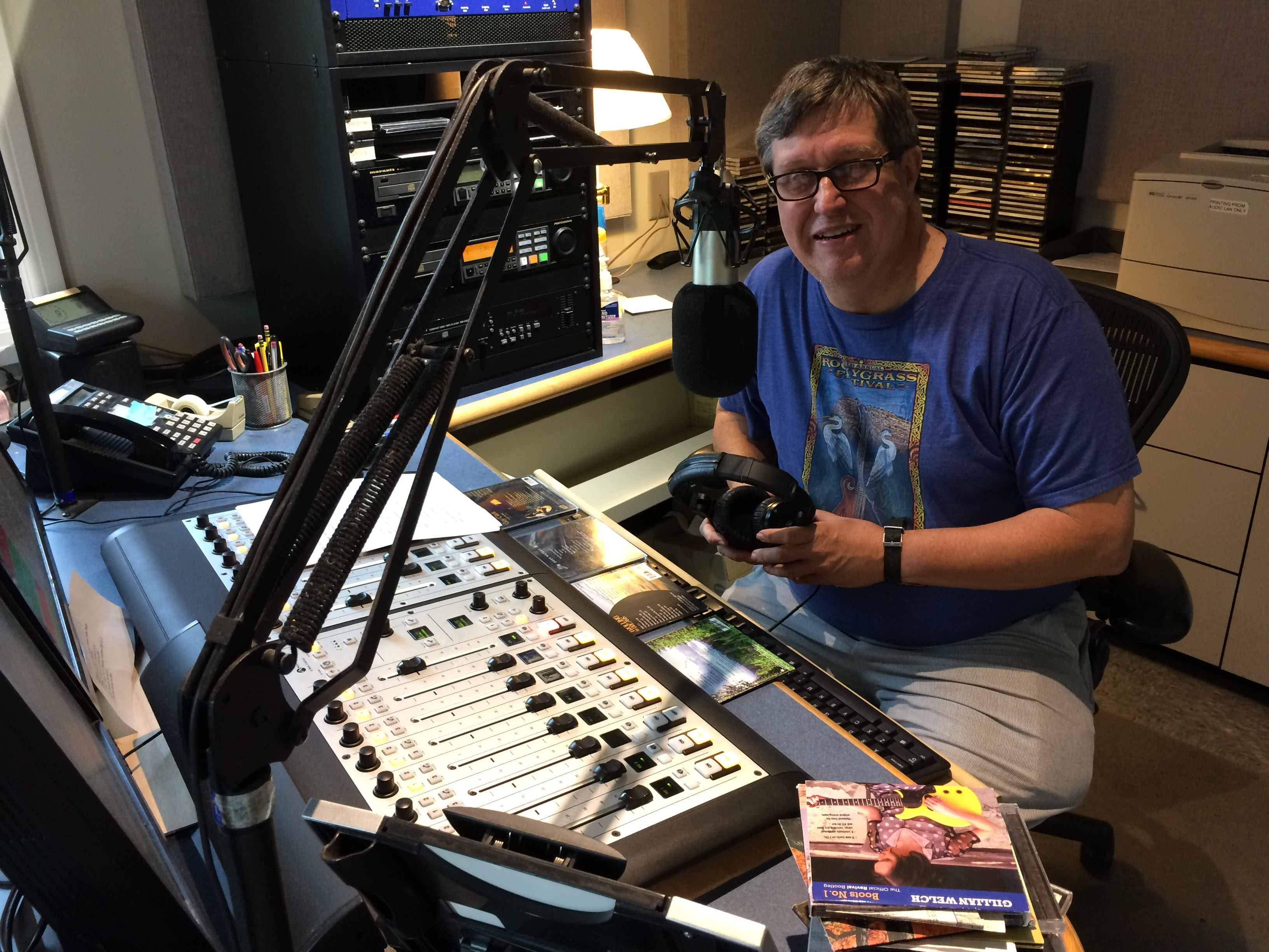 Radio Bob during KPR's recent fall membership drive.