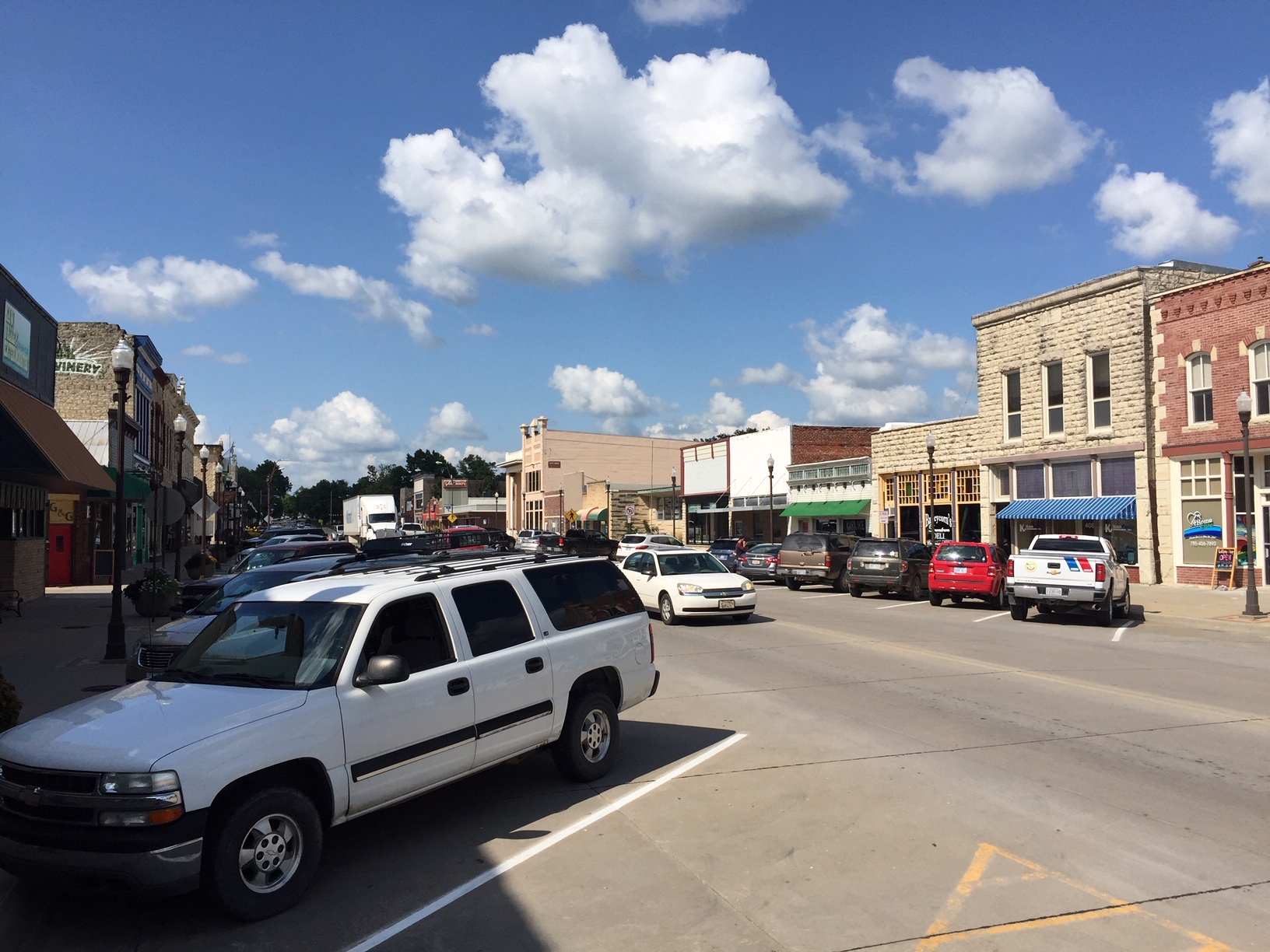 Snapshot of downtown Wamego on a hot August day. (Photo by J. Schafer)