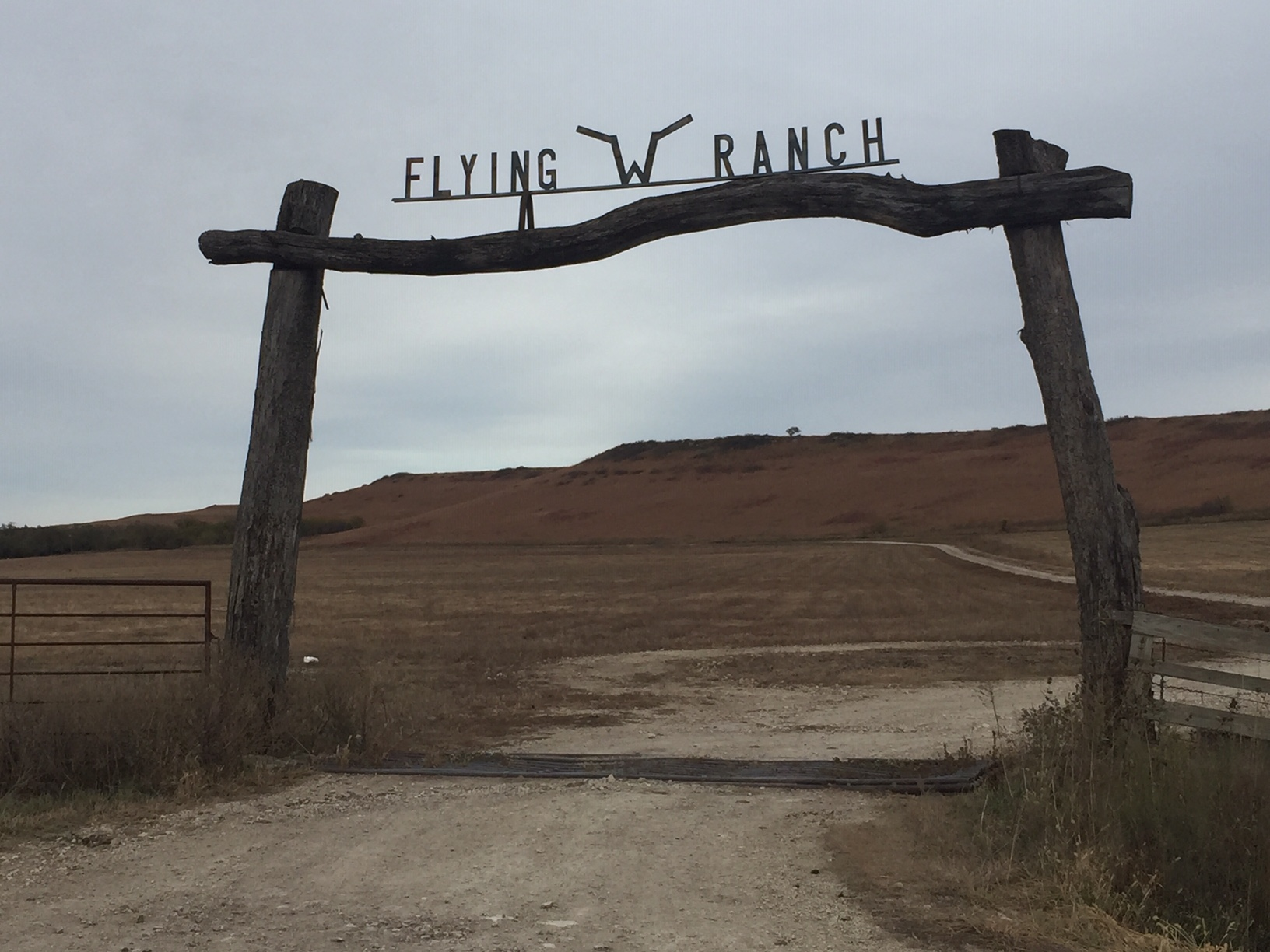 One gateway to the Flying W Ranch, where birdwatcher Bones Ownbey works as head ranch hand. (Photo by J. Schafer)