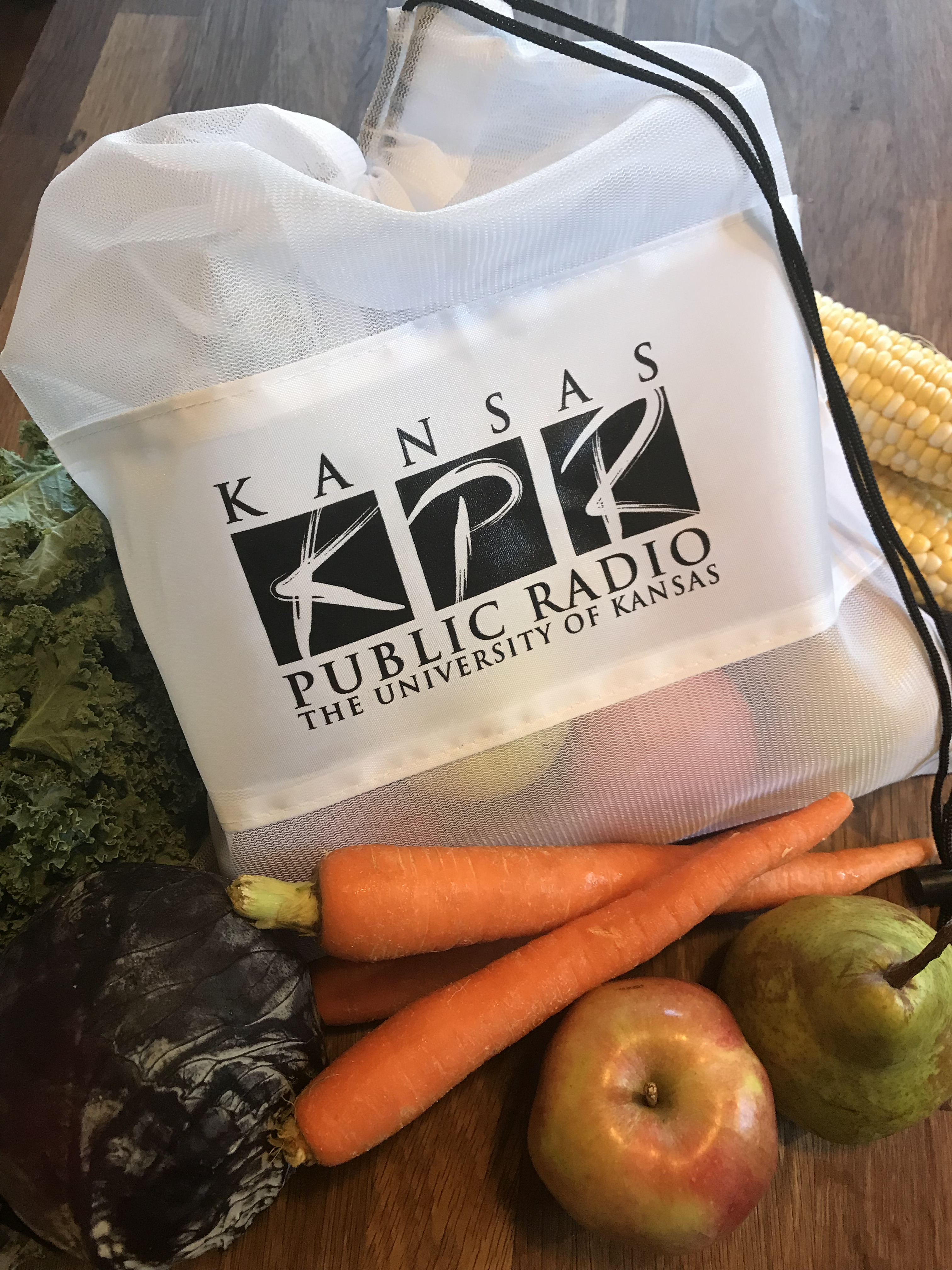When you give $60+ on Saturday, 9/14, 7-10 a.m., you'll get KPR's reusable veggie bag, while supplies last.