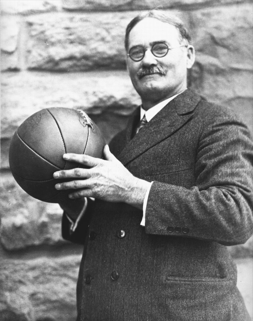 In 1891, while working as a physical education teacher at the YMCA International Training School in Springfield, Mass., Naismith was asked to develop a game that would not take up much room, was not too rough, and at the same time, could be played indoors. (Photo Courtesy of Kansas Historical Society/kansasmemory.org)