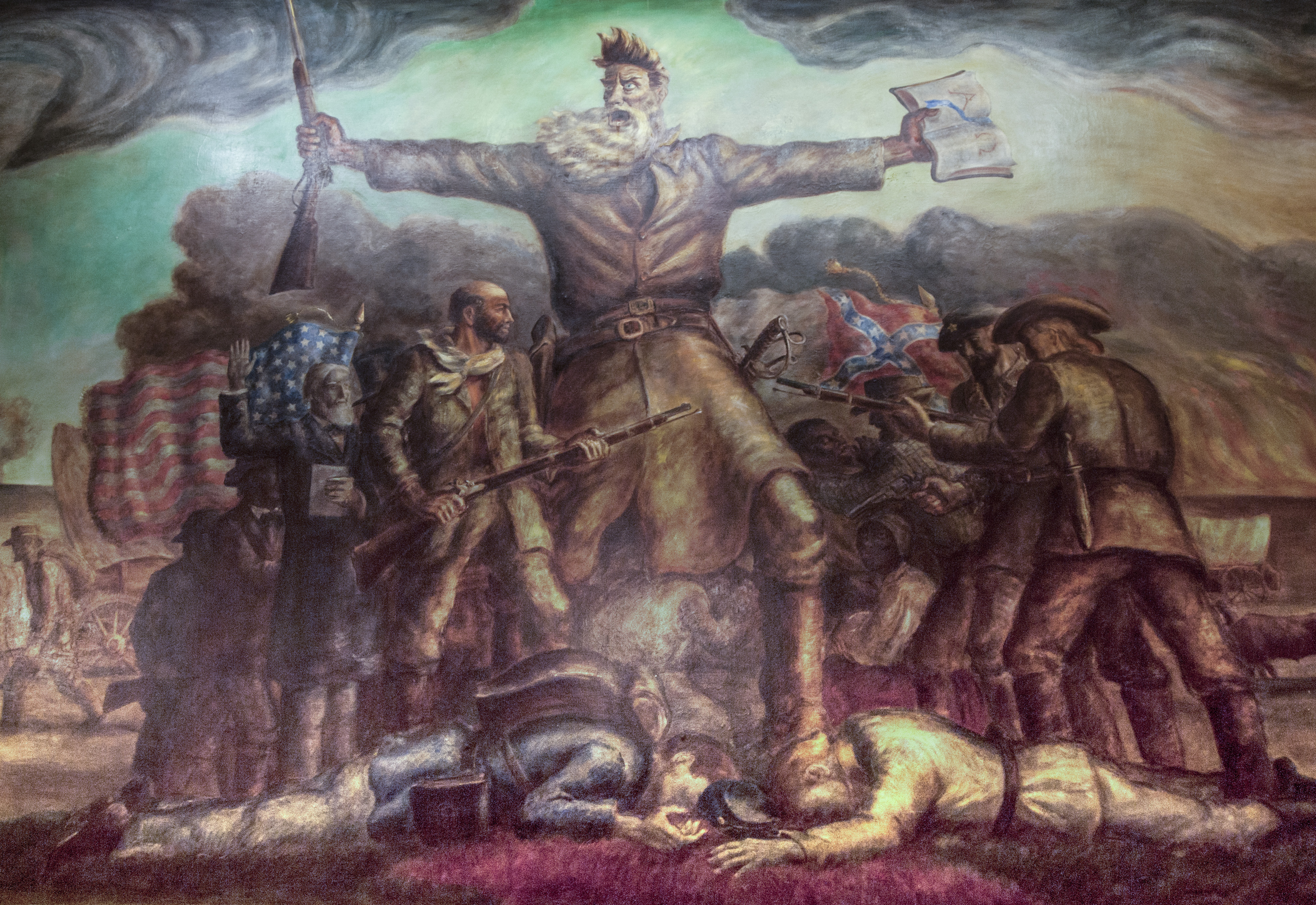 Controversial, violent and fervent abolitionist John Brown came to Kansas to fight against slavery. (Photo by Dan Skinner)