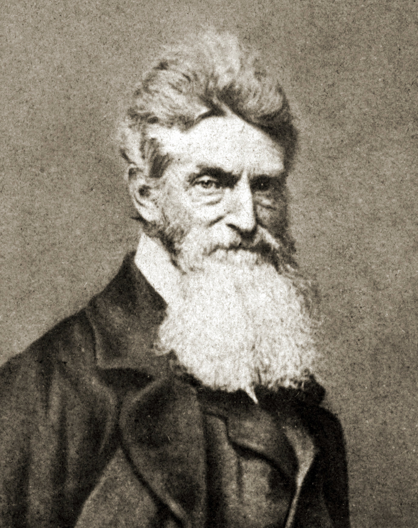 Another rendering of abolitionist John Brown, with his white flowing beard