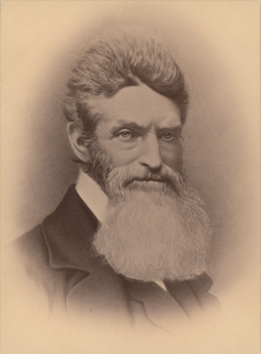 Abolitionist John Brown, who moved to the Kansas Territory to fight against the spread of slavery.