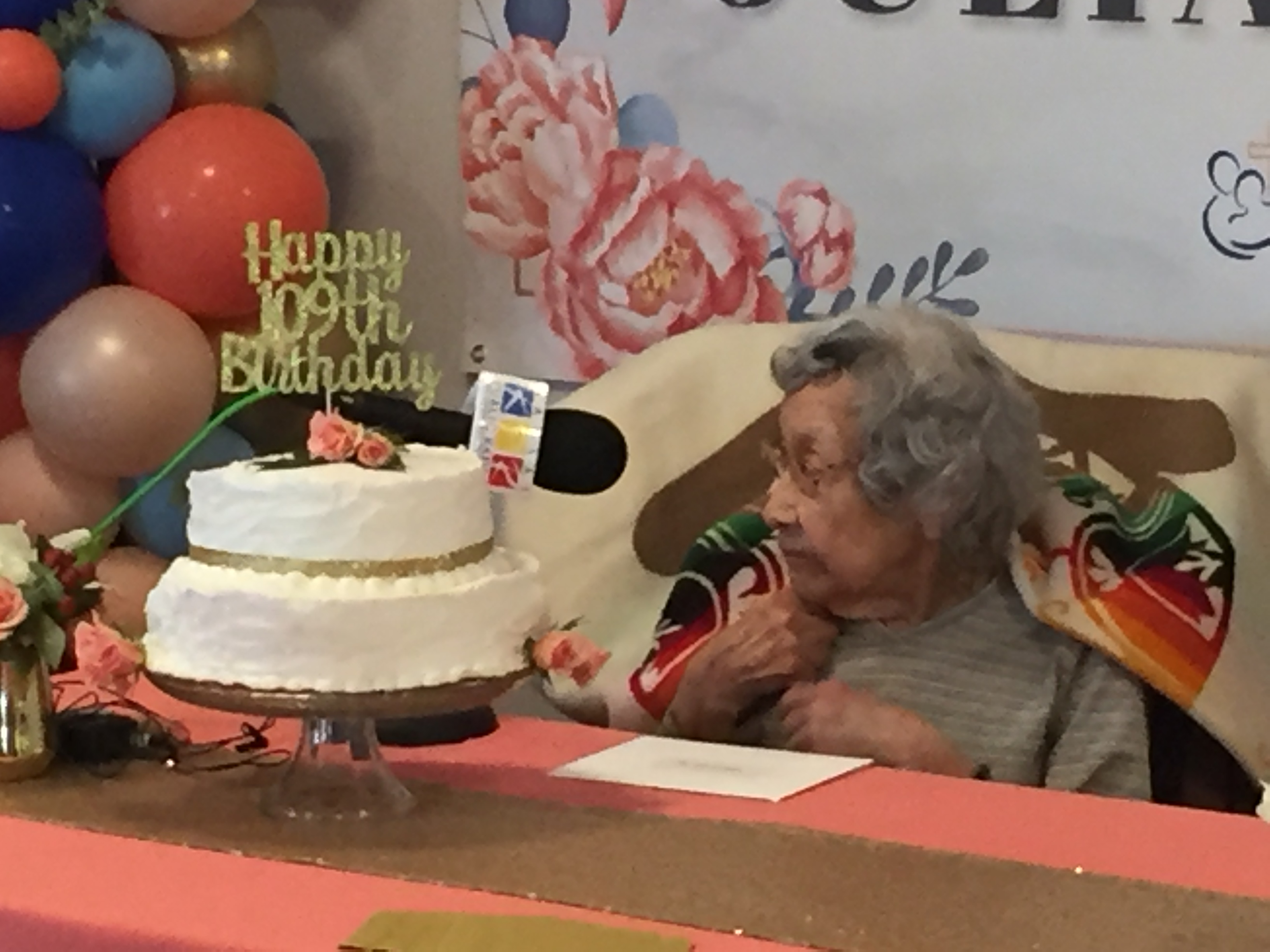 Julia Kabance's 109th birthday bash in Wamego, Kansas. (Photo by J. Schafer)