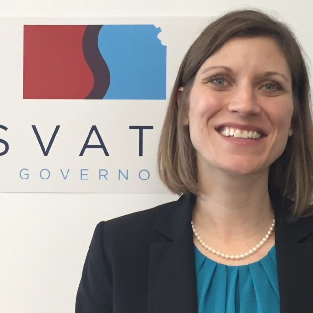 Katrina Lewison is running for lieutenant governor on a ticket with Josh Svaty (Photo by Jim McLean / Kansas News Service)