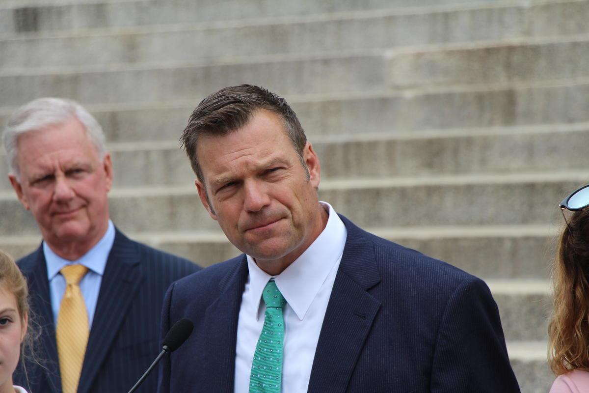 Kris Kobach won the Republican primary for governor in 2018, but he lost the general election. (Photo by Scott Canon)