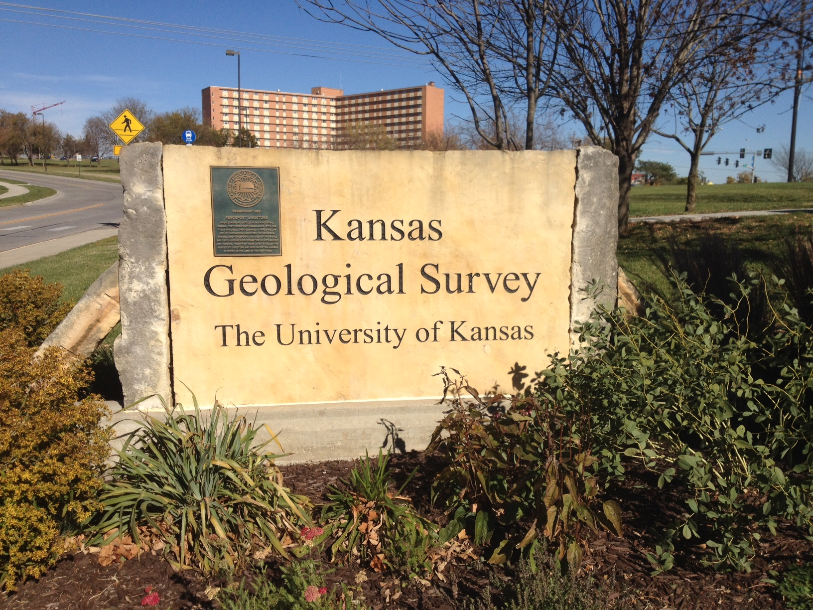 Entrance to the Kansas Geological Survey at the University of Kansas (Photo by J. Schafer)