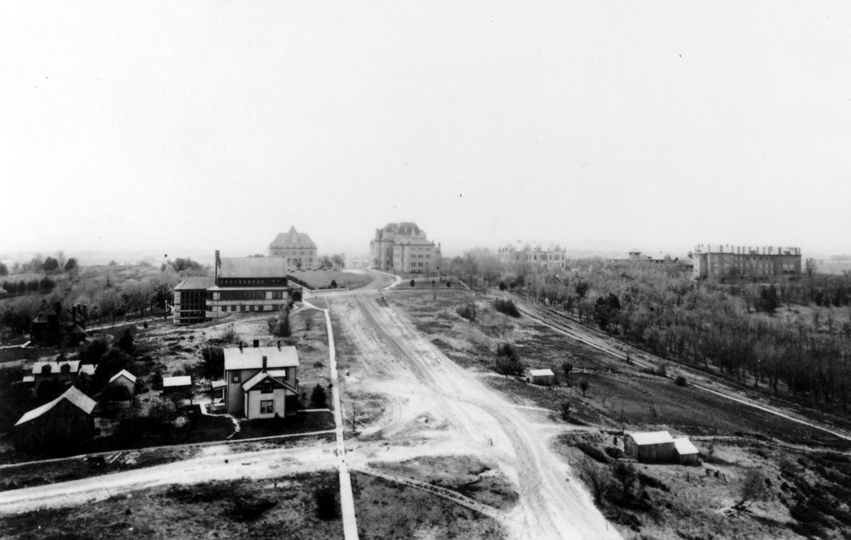 The KU campus, c. 1900. (Photo Courtesy of Spencer Research Library)