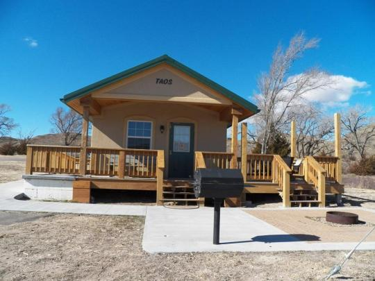 One of the cabins available for rent at Lake Scott State Park