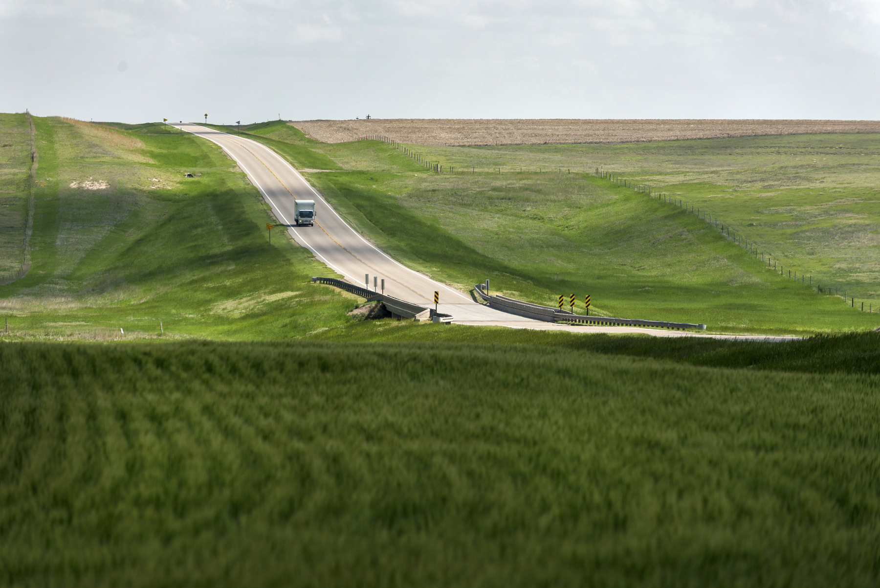 Kansas Highway 27, north of Goodland, in northwest Kansas is the state's latest designated Scenic Byway.  This one is called the Land and Sky Scenic Byway. (Photo from KDOT)