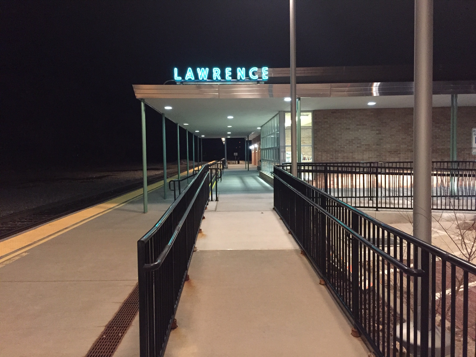 Lawrence train depot (Photo by J. Schafer)