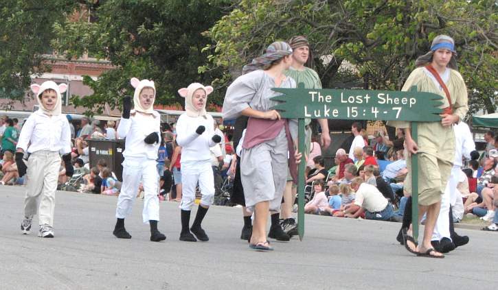 """Another parade entry at Biblesta, billed as the """"only Biblical parade in America."""""""