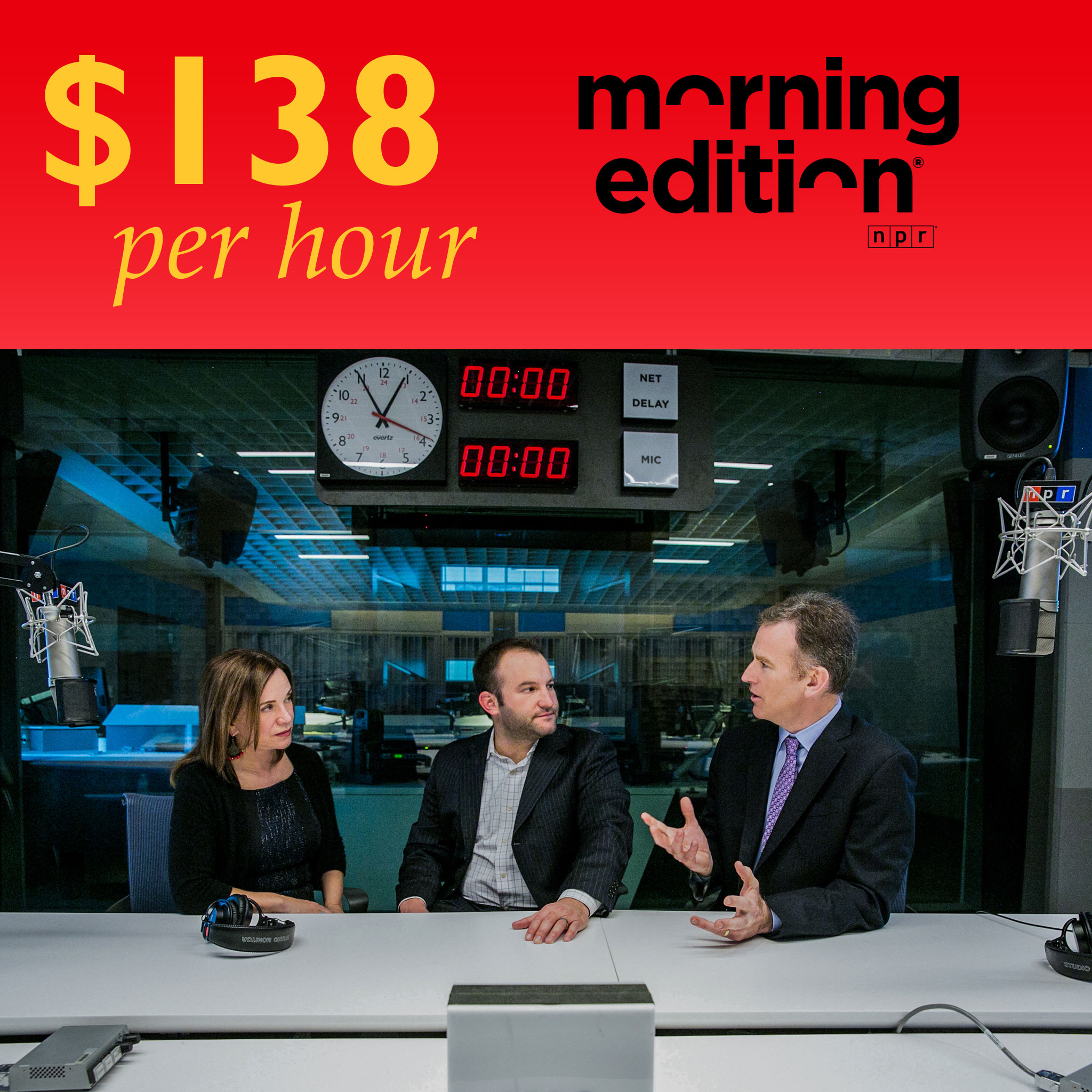 "The hosts of ""Morning Edition,"" Renee Montagne, David Green and Steve Inskeep."
