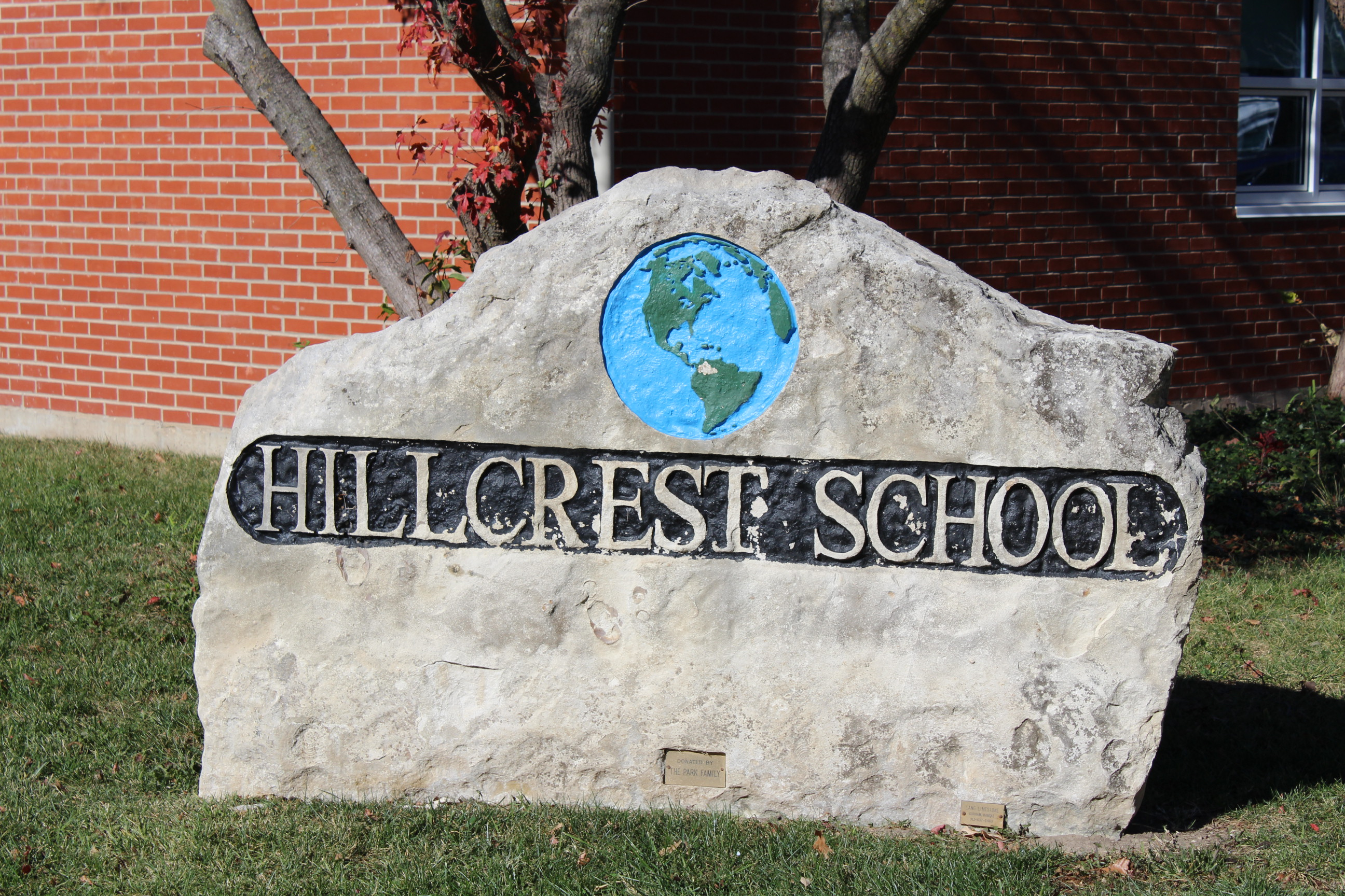 Hillcrest Elementary School sign (Photo by J. Schafer)
