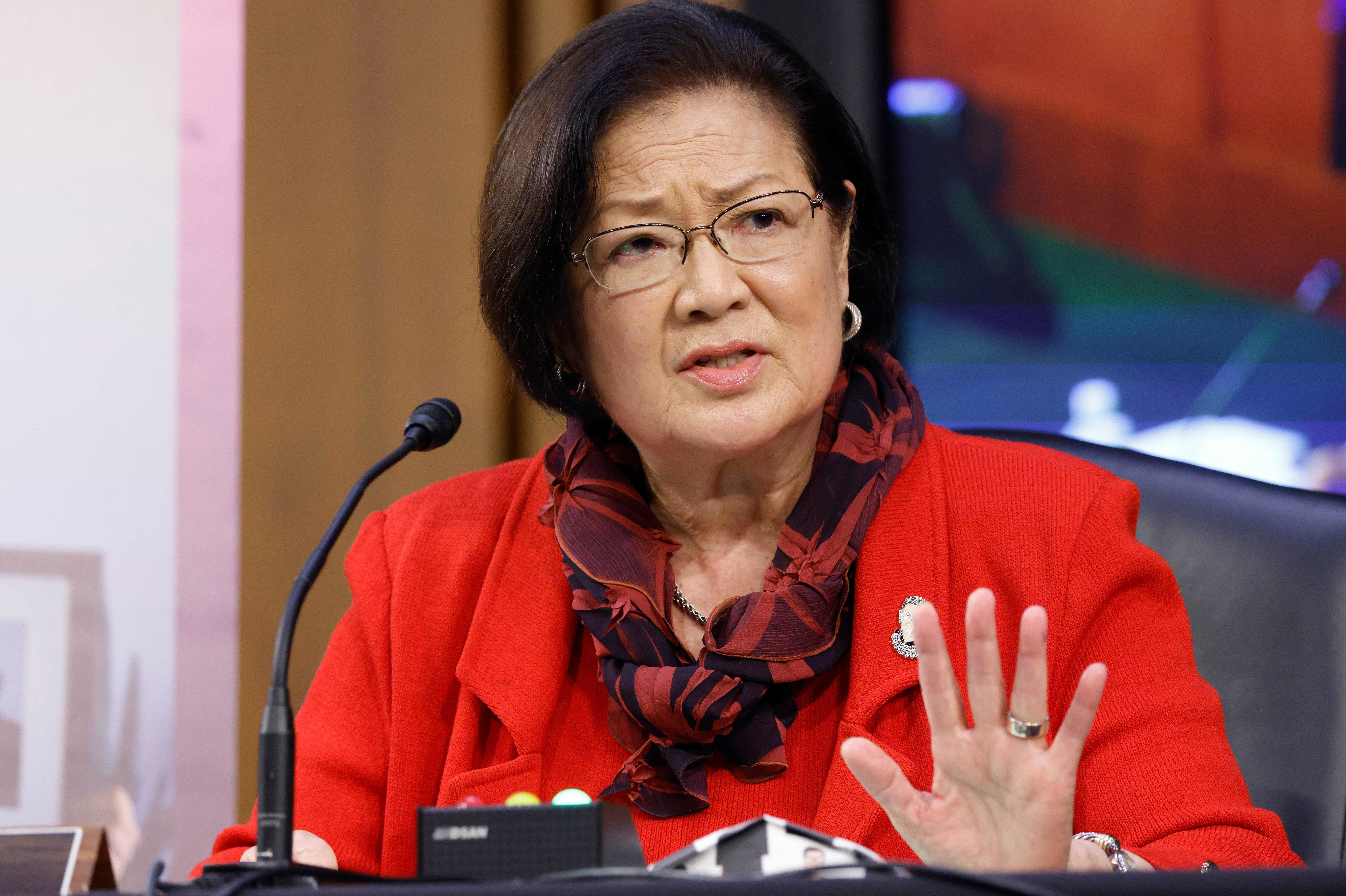"""Sen. Mazie Hirono, D-Hawaii, says her immigrant journey, detailed in a new memoir, has driven her to """"stand up to bullies."""""""