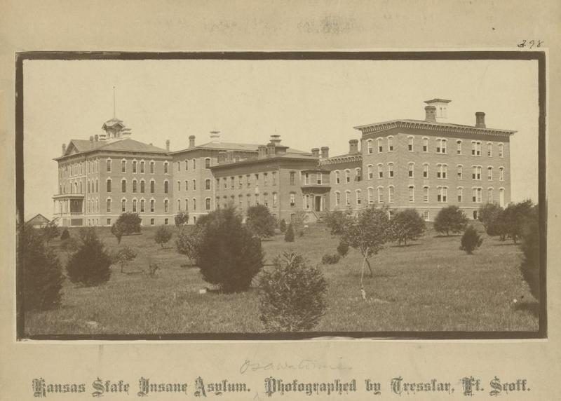 In 1866, Kansas established the facility that would become Osawatomie State Hospital. The state purposely put mental health patients in rural areas because of the belief that a peaceful setting and farm work would act as a treatment, according to Walter Menninger, former president and CEO of the Menninger Clinic. (Photo by Kansas State Historical Society)
