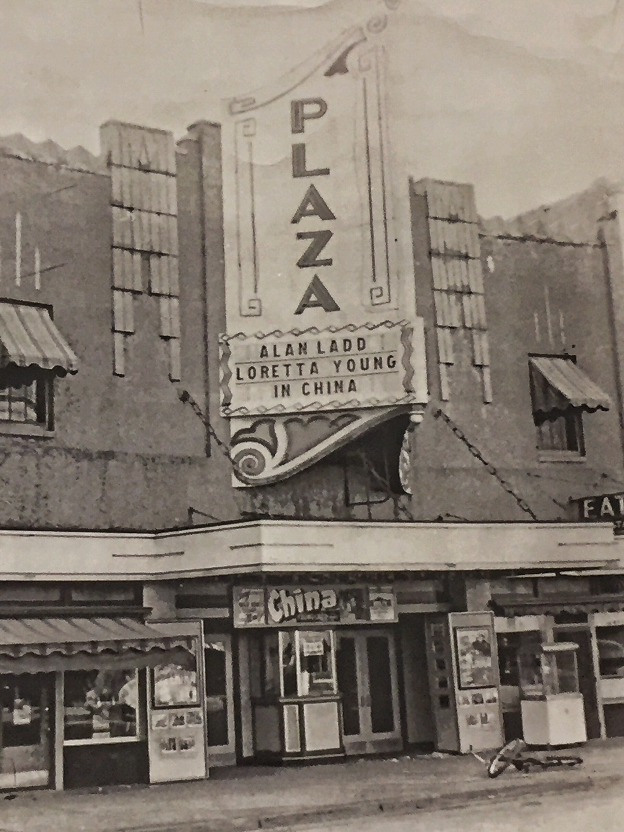Ottawa's Plaza Cinema, circa 1943 (Courtesy of the Franklin County Historical Society)