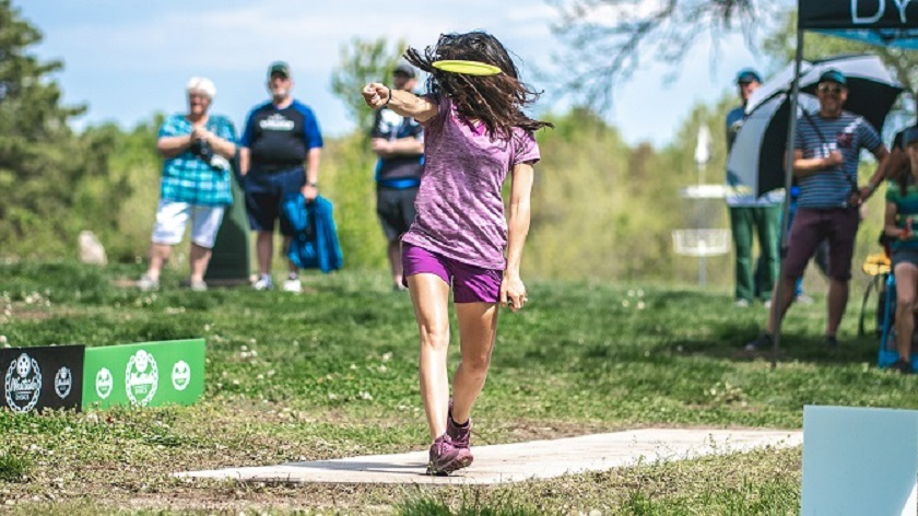 22-year-old Paige Bjeerkaas is the 2018 world disc golf women's champion