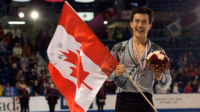 Canadian Olympic athlete Patrick Chan at a skating competition in Canada.