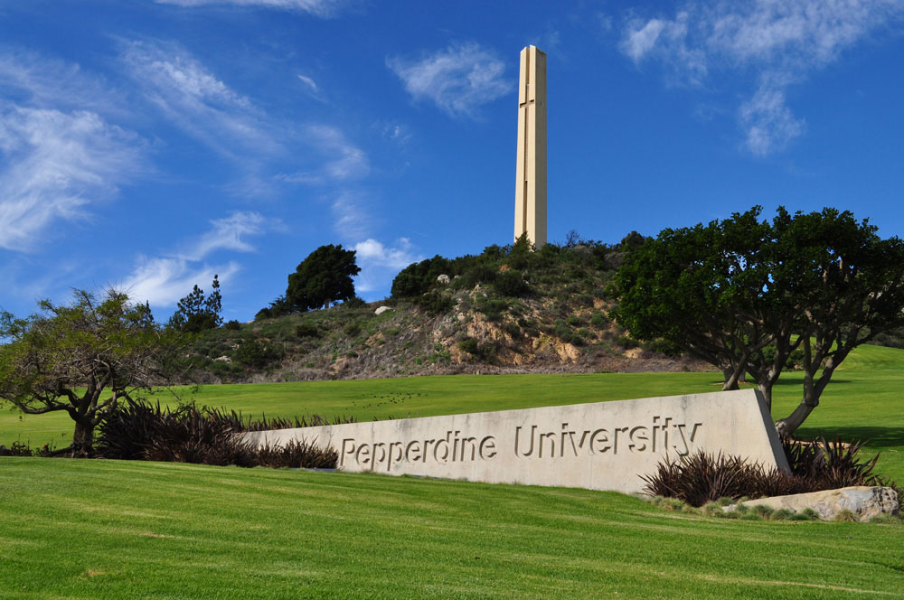 Pepperdine University in Malibu, Calif., was founded by George Pepperdine during the Great Depression. (Flickr Photo by campusgrotto)
