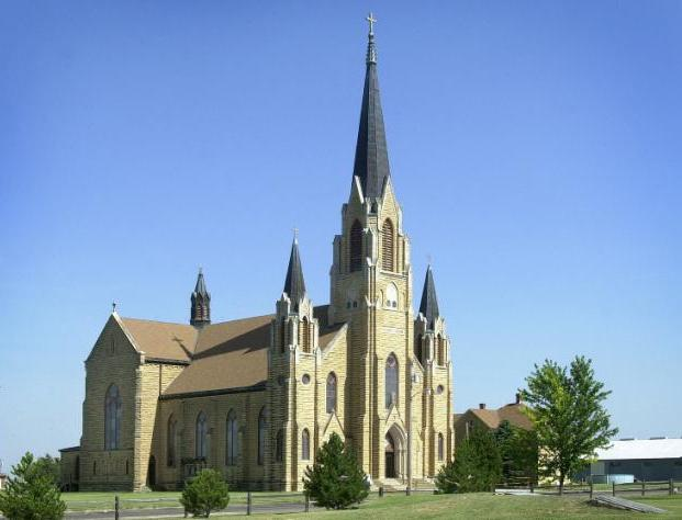 "Holy Cross Church in the Ellis County town of Pfeifer. (Photo Courtesy of Carol Billinger, <a href=""http://www.germancapitalofkansas.com"">www.germancapitalofkansas.com</a>)"