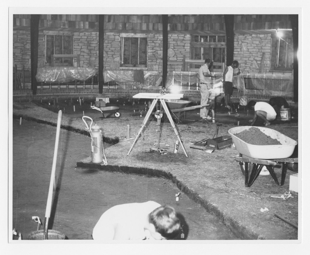 Excavation for the Pawnee Indian Village Museum in Republic County, Kansas. The Pawnee Indian Museum is the oldest historic site owned by the state of Kansas. The site was listed in the National Register of Historic Places in 1971. (Photo Courtesy of Kansas Historical Society / kansasmemory.org)