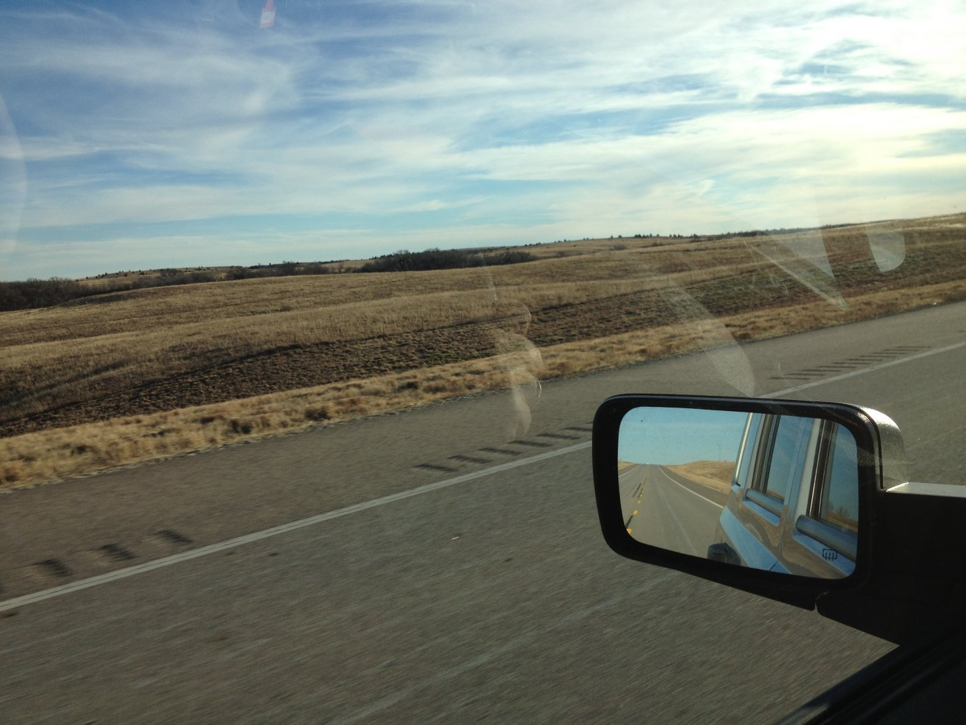 Driving through the plains of southwest Kansas. (Photo by J. Schafer)