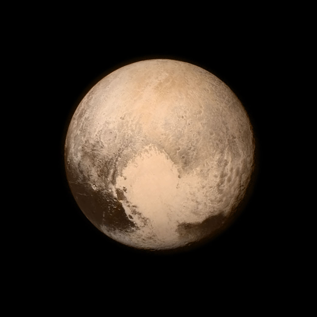 This stunning image of the dwarf planet Pluto was captured from New Horizons at about 4 p.m. EDT on July 13, 2015, about 16 hours before the moment of closest approach. The spacecraft was 476,000 miles (766,000 kilometers) from the surface. (Flickr Photo via NASA's Marshall Space Flight Center)