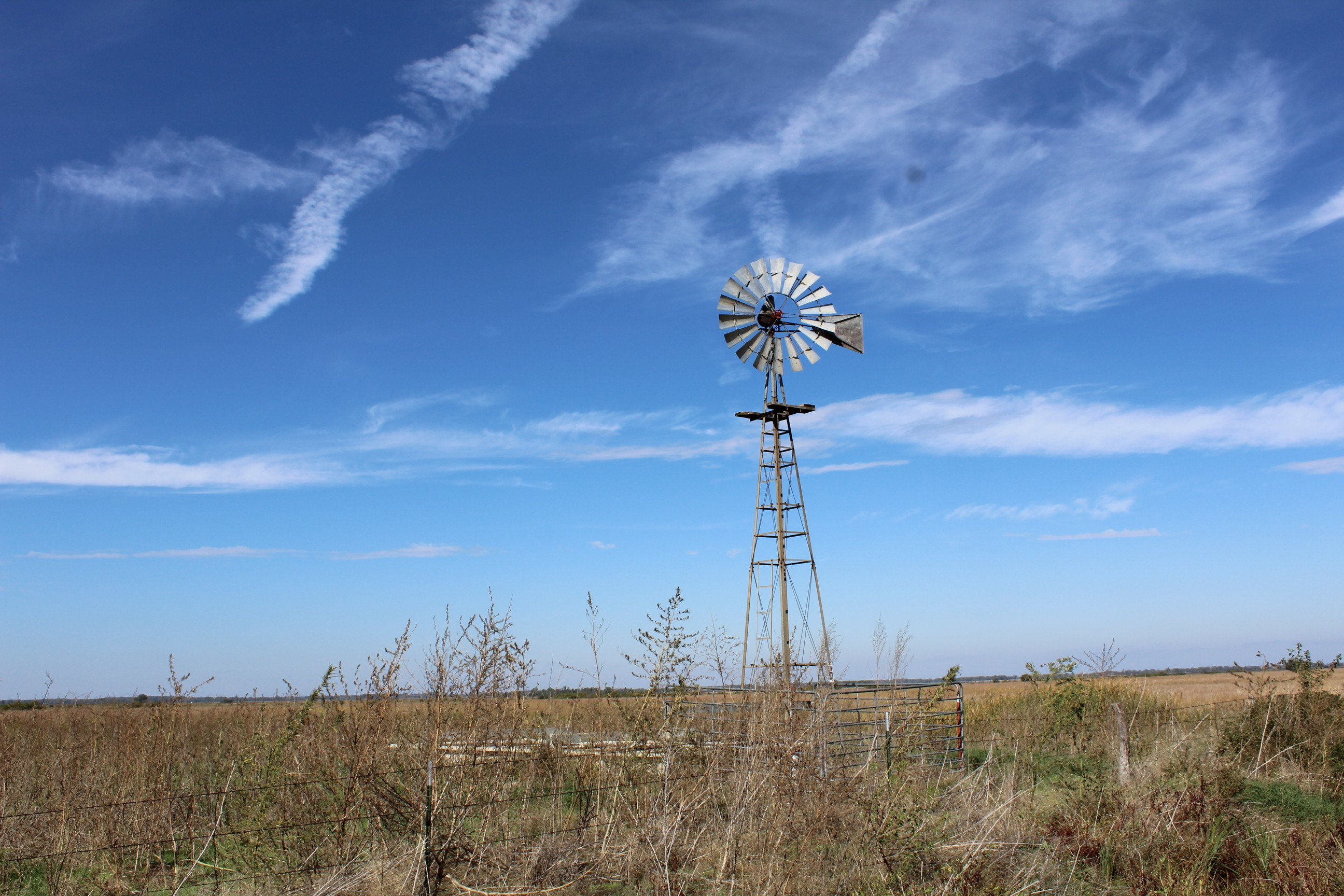 Windmill near Quivira National Wildlife Refuge in Stafford County. (Photo by J. Schafer)